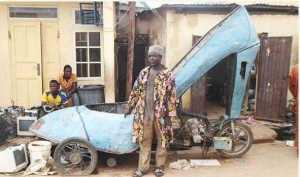 Creativity!! Nigerian Man Converts Motorcycle Into High Heel Shoe In Kaduna (Photo)